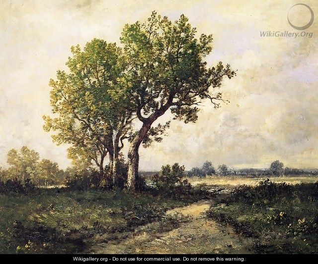Trees in a Landscape - Leon Richet