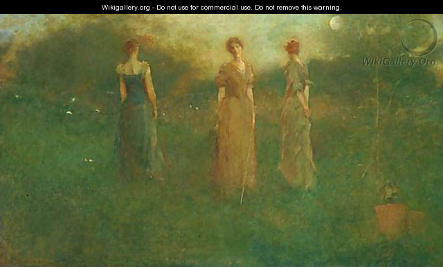 In the Garden - Thomas Wilmer Dewing