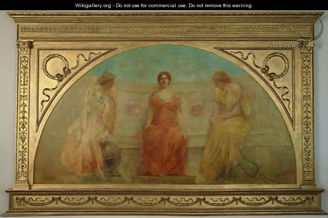 Commerce and Agriculture Bringing Wealth to Detroit - Thomas Wilmer Dewing