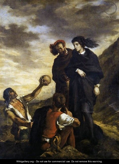Hamlet and Horatio in the Graveyard - Eugene Delacroix