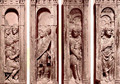 Four reliefs with the trials of Saint Peter - Paolo Romano