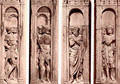 Four reliefs with the trials of Saint Paul - Paolo Romano