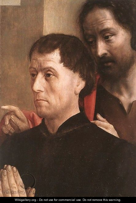 Portrait of a Donor with St John the Baptist 1478-80 - Hugo Van Der Goes