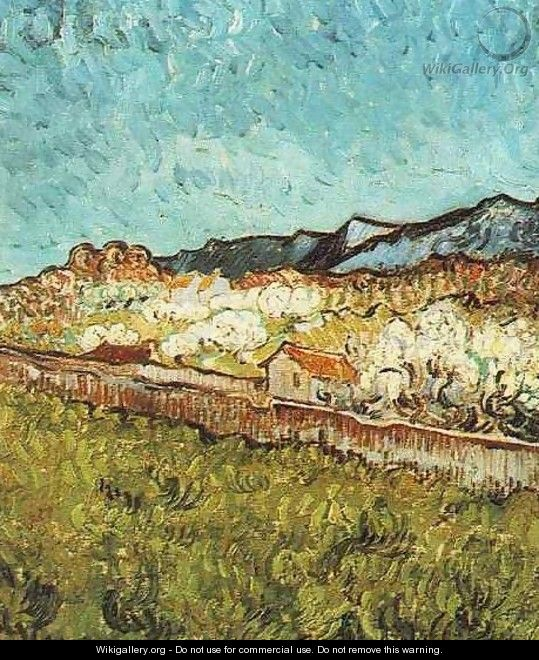 At The Foot Of The Mountains - Vincent Van Gogh