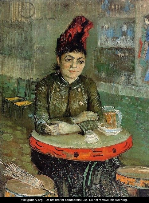 Agostina Segatori Sitting In The Cafe Du Tambourin - Vincent Van Gogh