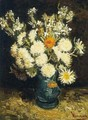 Flowers In A Blue Vase - Vincent Van Gogh