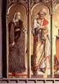 St. Catherine of Alexandria and St. Peter, detail from the Santa Lucia triptych - Carlo Crivelli