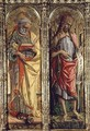 St. Peter and St. John the Baptist, detail from the Sant'Emidio polyptych, 1473 - Carlo Crivelli