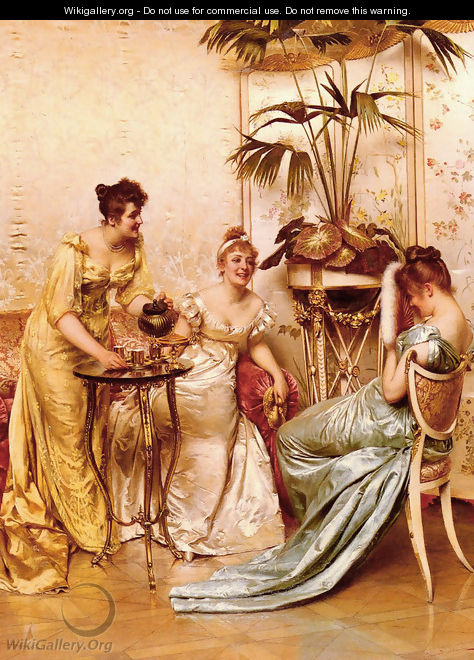 The Tea Party - Charles Joseph Frederick Soulacroix