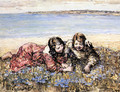 Gathering Flowers by the Seashore - Edward Atkinson Hornel