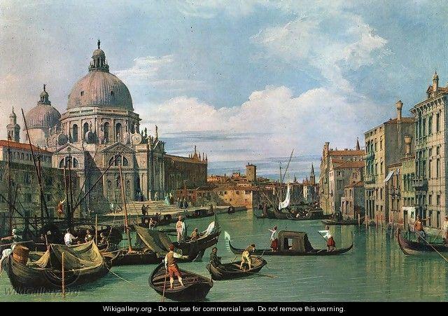 The Grand Canal at the Salute Church 2 - (Giovanni Antonio Canal) Canaletto