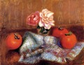 Roses And Persimmons - William Glackens