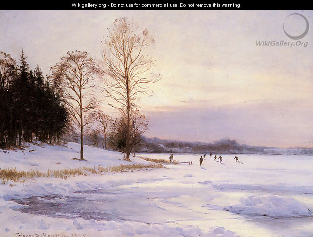 Skaters on A Frozen Pond - Sigvard Hansen