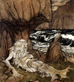 A Crowned Merman - Arthur Rackham