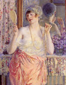 Femme Au Miroir (Woman Before A Mirror) - Frederick Carl Frieseke