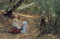 Children in the forest - Friedrich Miess