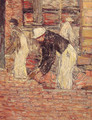 Bricklayers - Childe Hassam