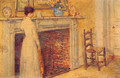 The Fireplace - Childe Hassam