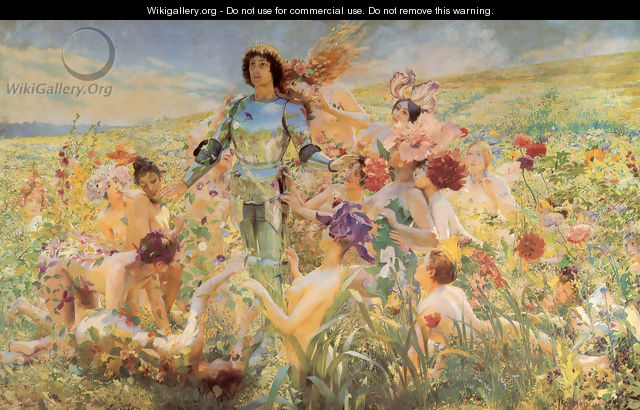 The Knight of the Flowers (or Parsifal) - Georges Antoine Rochegrosse
