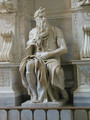 Tomb of Pope Julius II: Moses [detail: 2] - Michelangelo Buonarroti