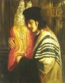 Young Man Holding Lord's Prayer - Simeon Solomon