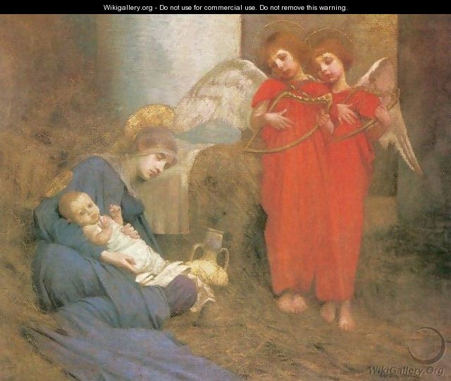 Angels Entertaining the Holy Child - Marianne Preindelsberger Stokes