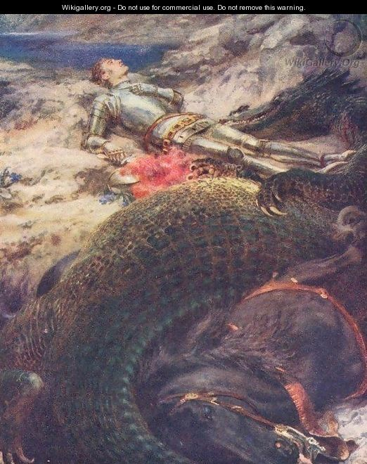 St George and the Dragon - Briton Rivière