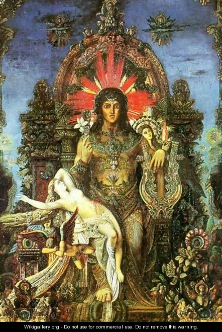 Jupiter and Semele (detail) - Gustave Moreau