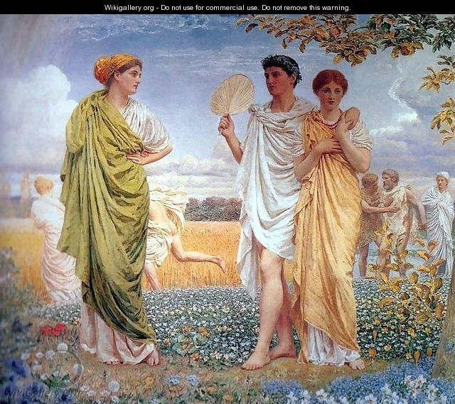 Loves of the Winds and the Seasons - Albert Joseph Moore
