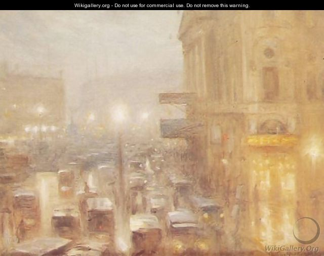 Matinee afternoon, Picadilly Circus (study) - Arthur Hacker