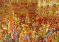 The Miracle of the Sacred Fire, Church of the Holy Sepulchre - William Holman Hunt