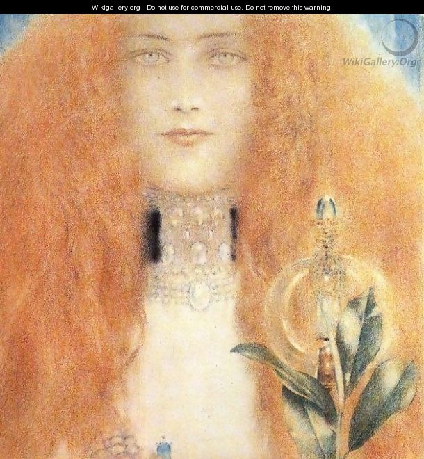 Head of a Woman I - Fernand Khnopff