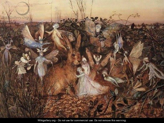 Rabbit Among the Fairies - John Anster Fitzgerald