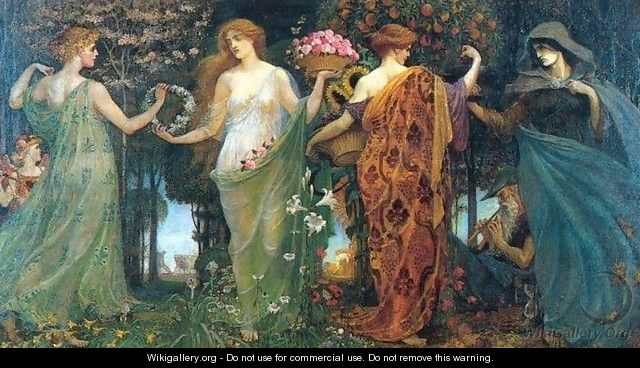 The Masque of the Four Seasons - Walter Crane