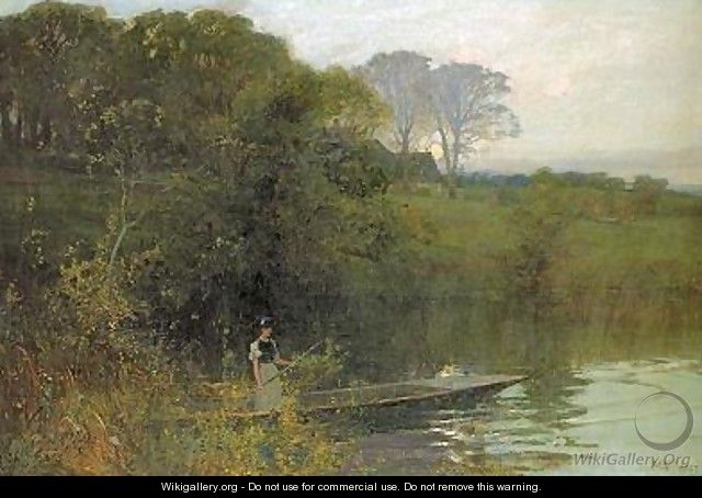 Twilight punting - Sir Alfred East