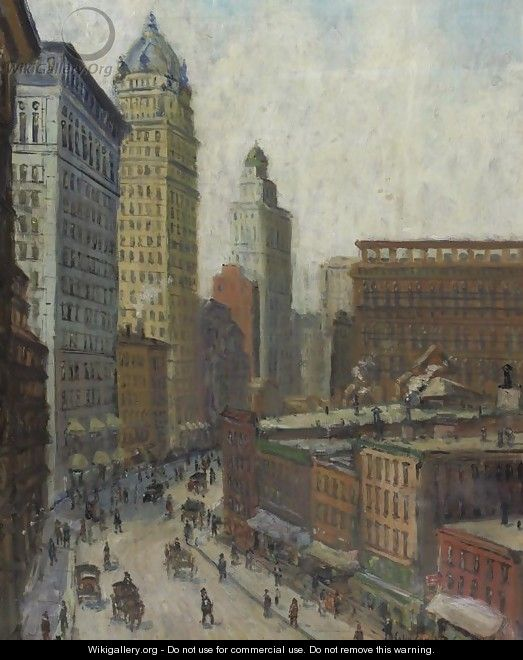 Lower Broadway - Colin Campbell Cooper