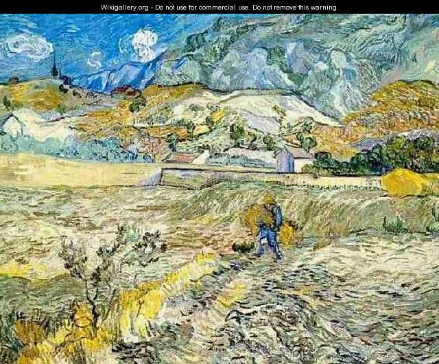 Enclosed Wheat Field With Peasant - Vincent Van Gogh