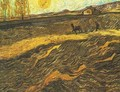 Enclosed Field With Ploughman - Vincent Van Gogh