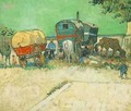 Encampment Of Gypsies With Caravans - Vincent Van Gogh
