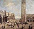 View of the Piazza San Marco from the Procuratie Vecchie 1720 - Antonio Stom