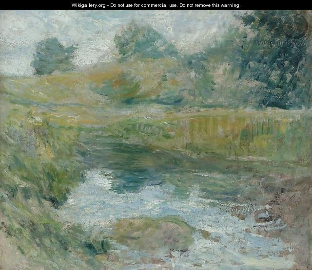 Pond in Spring - John Henry Twachtman