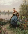 On the River's Edge - Daniel Ridgway Knight