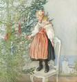 Decorating the Tree (Julgranskonfekt) - Carl Larsson