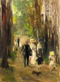 Promenade in the Grunewald, Berlin (Aus dem Grunewald) - Max Liebermann