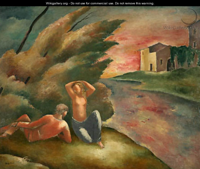 Couple in Landscape - Eugene Zak