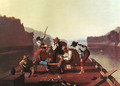 Ferrymen Playing Cards - George Caleb Bingham