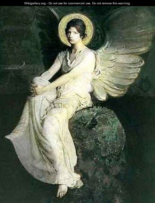 Winged Figure Seated Upon a Rock - Abbott Handerson Thayer