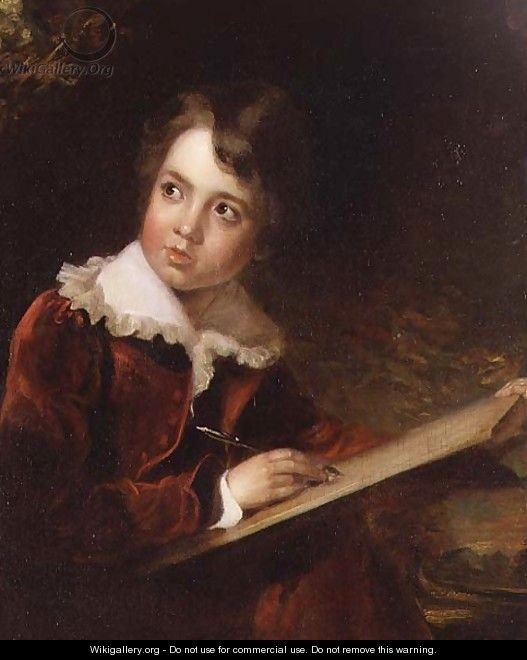 Young Boy Writing - Elisabeth Vigee-Lebrun