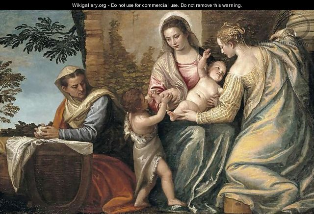 Madonna and Child with St. Elizabeth, the Infant St. John the Baptist and St. Justina, 1565-70 - Paolo Veronese (Caliari)