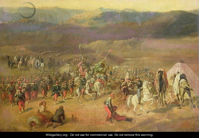 The Capture of the Retinue of Abd-el-Kader 1808-83 or, The Battle of Isly on August 14th, 1844, 1844-63 - Horace Vernet